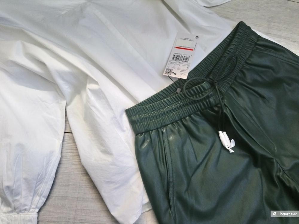 Кожаные брюки mango, размер XS-S