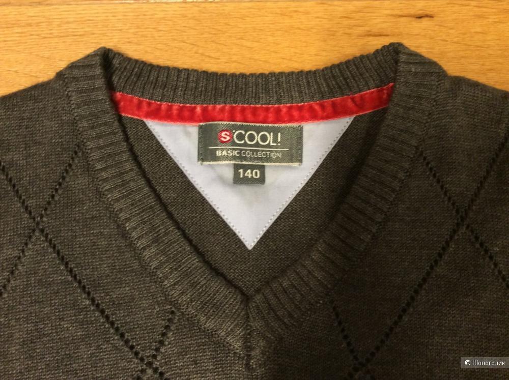 Сет из двух рубашек и жилета для мальчика на рост 125-140 см