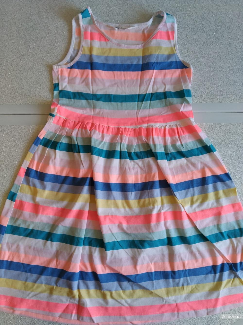 Сет сарафан H&M  и платье next размер 7/8 лет