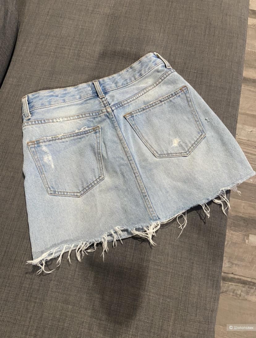 Юбка джинсовая bershka размер 34