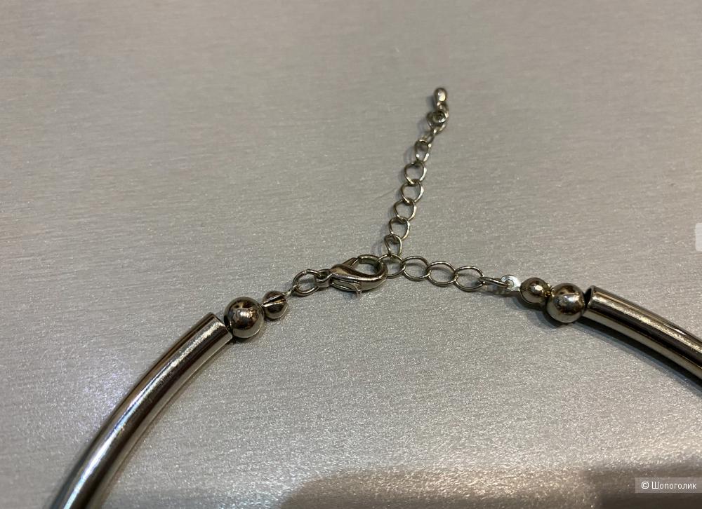 Ожерелье биколор с крупными шариками