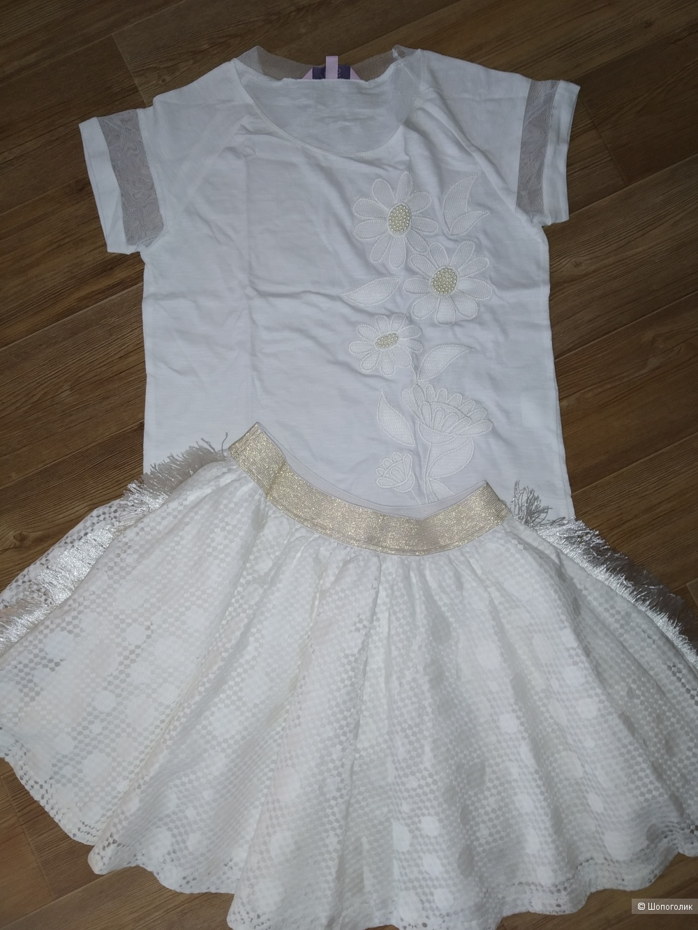 Сет юбка to be too + футболка оvs размер 146
