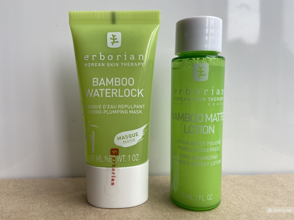 Дуэт средств Erborian Bamboo: маска + тоник
