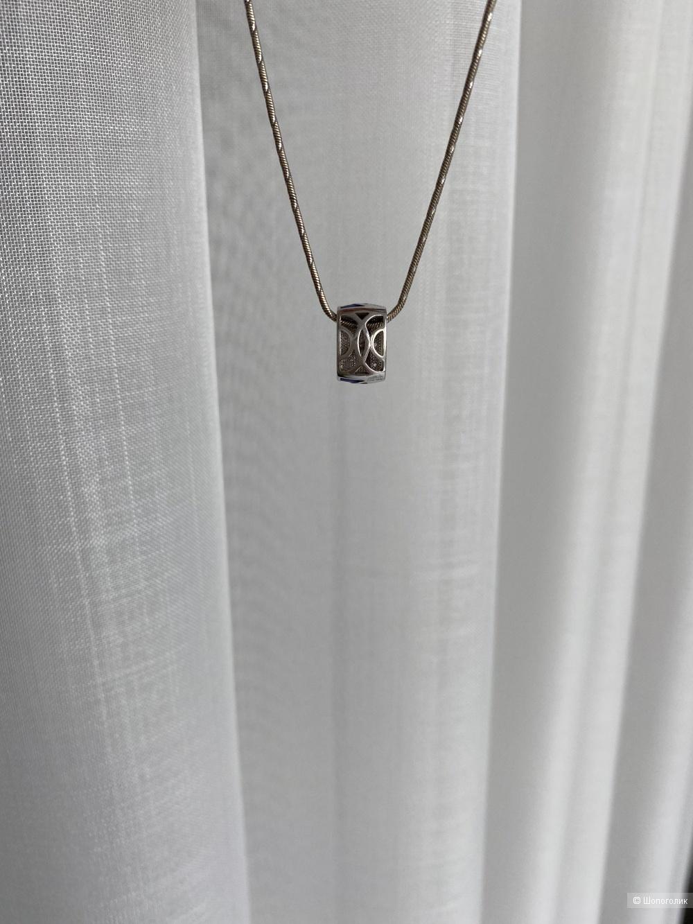 Подвеска-шарм на цепь или браслет, серебро, эмаль