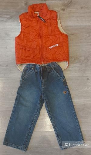 Комплект Timberland джинсы и  жилет 2-4 года