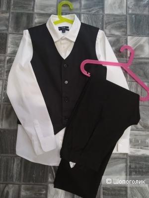 Сет брюки f&f +жилет-рубашка kiabi размер 10/11 лет