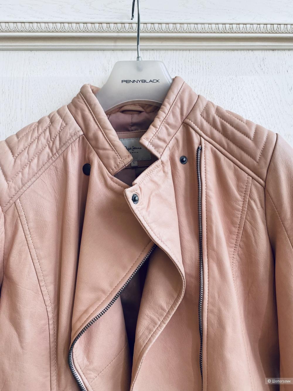Pepe Jeans кожаная куртка размер m-l