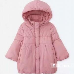 Утепленное пальто для девочки Uniqlo размер 100