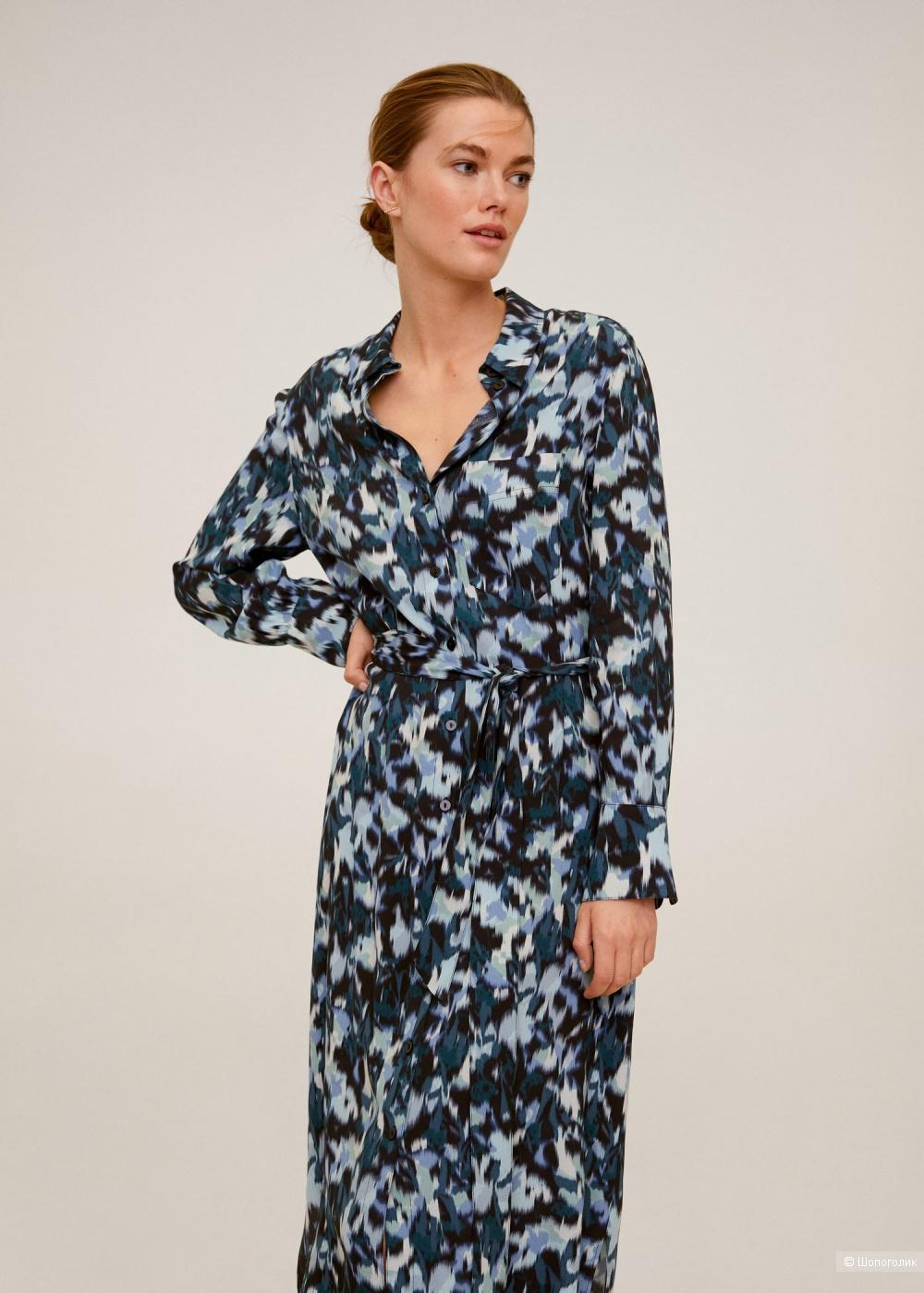 Платье -рубашка mango, размер М