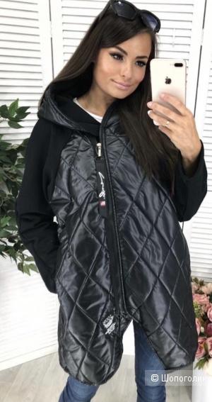 Куртка удлиненная комбинированная New collection, one size