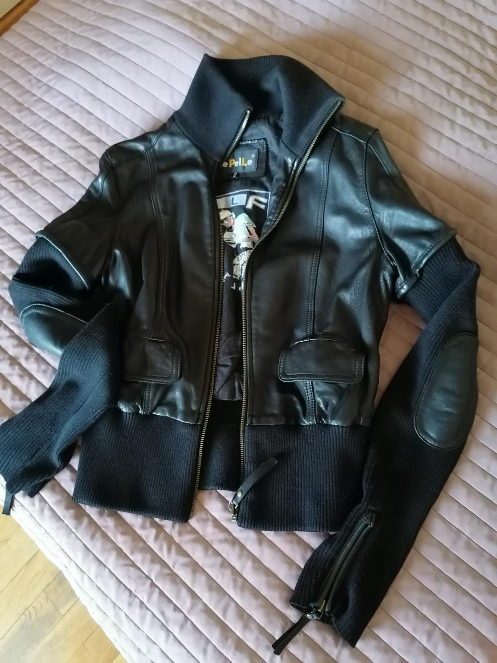 Кожаная куртка Le Pelle размер М