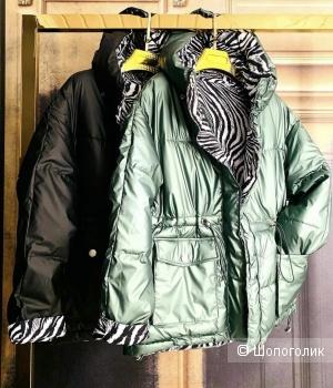Куртка пуховик двусторонняя ZEBRA, 42-48