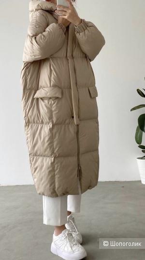 Пуховик пальто стеганый WOOKLAND, oversize