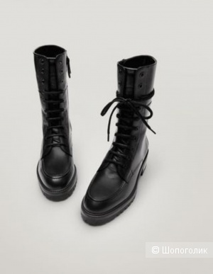 Кожаные ботинки massimo dutti, размер 36