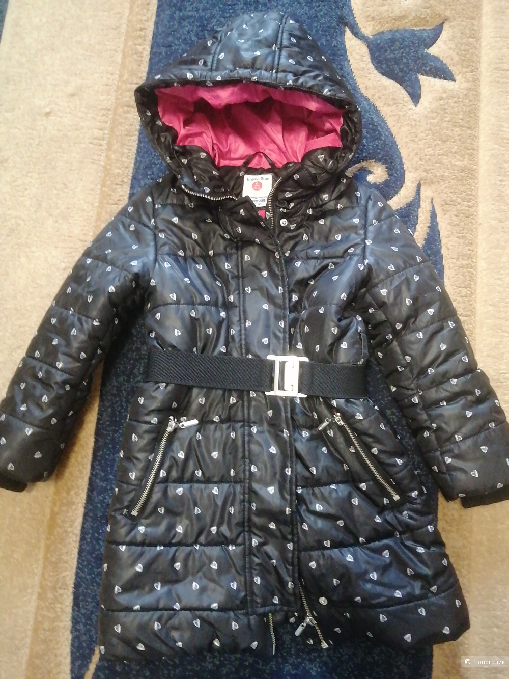 Пальто зимнее для девочки Button Blue116