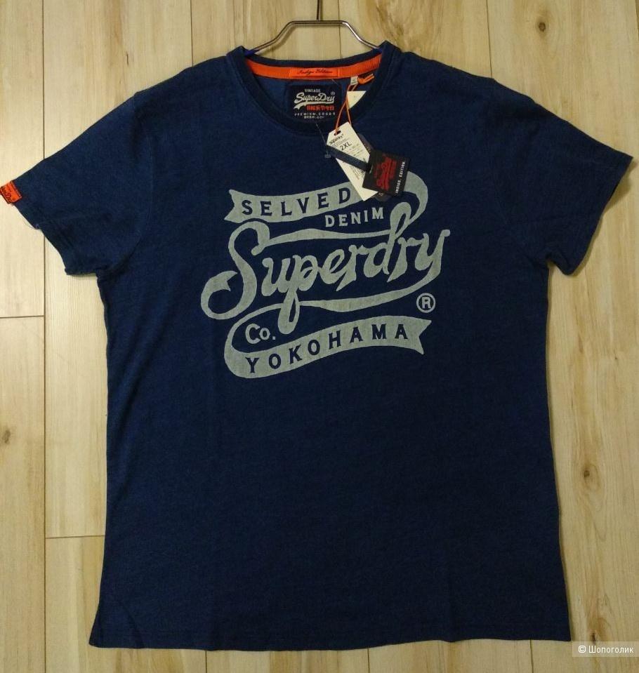 Футболка Superdry Yokohama Indigo,2XL / на 52 рус