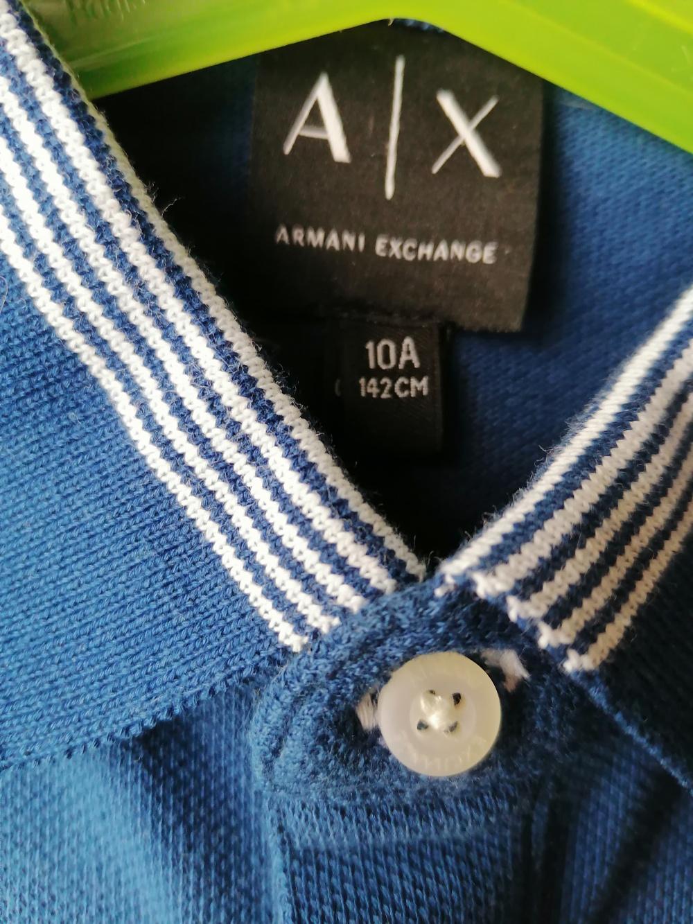 Поло Armani Exchange размер 142 (8-10 лет)