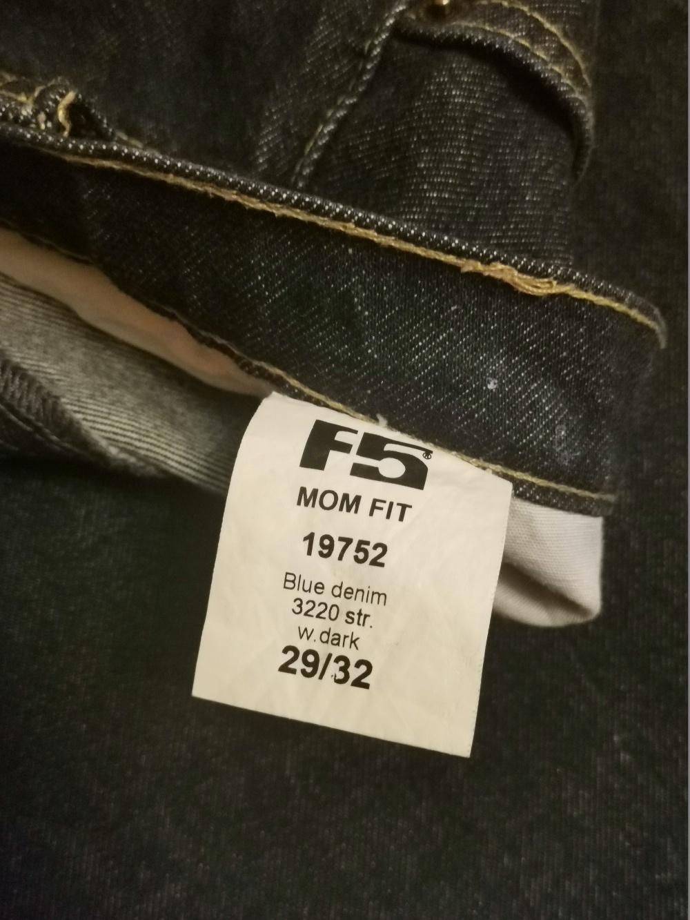 Джинсы F5 (mom fit), размер 42-44,росс.