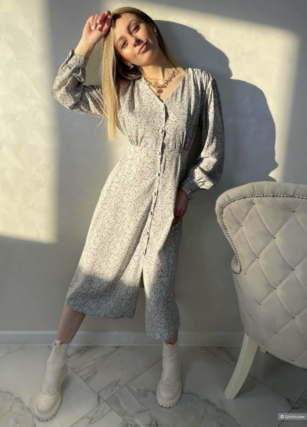 Платье шифоновое Provence,42-48