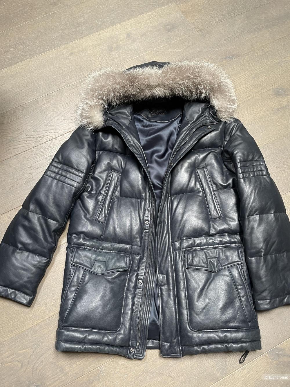 Пуховик кожаный зимний KANZLER,52