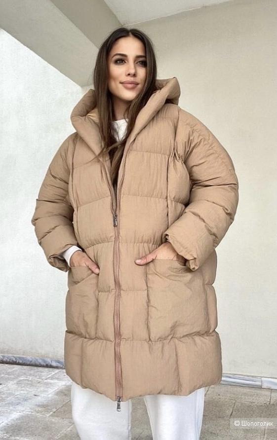 Пуховик одеяло Miss F, oversize