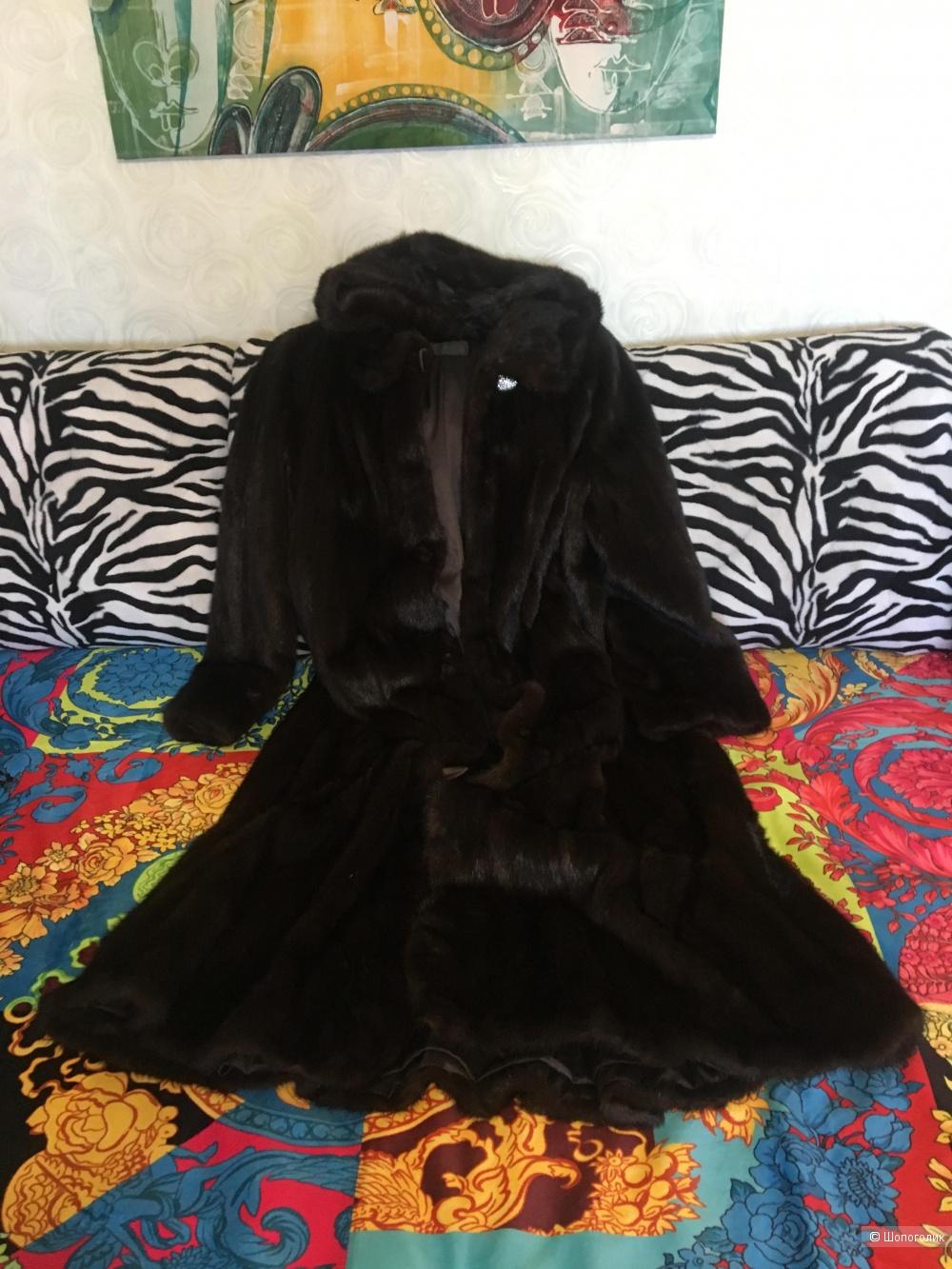 Шуба норковая женская Denvinnu, размер 54-58