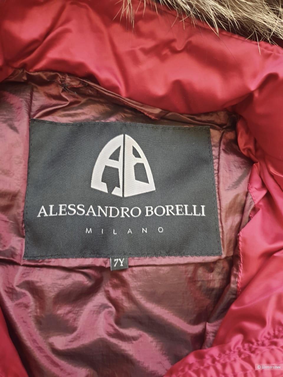 Пуховик Alessandro Borelli, размер 7 лет