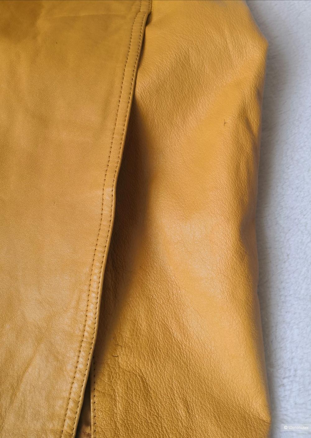 Юбка кожаная PD, размер 42-44