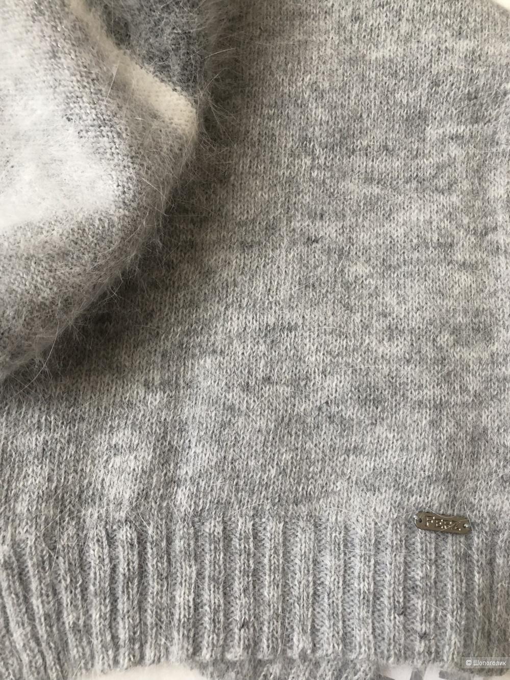 Комплект шапка и шарф Ferz,one size.