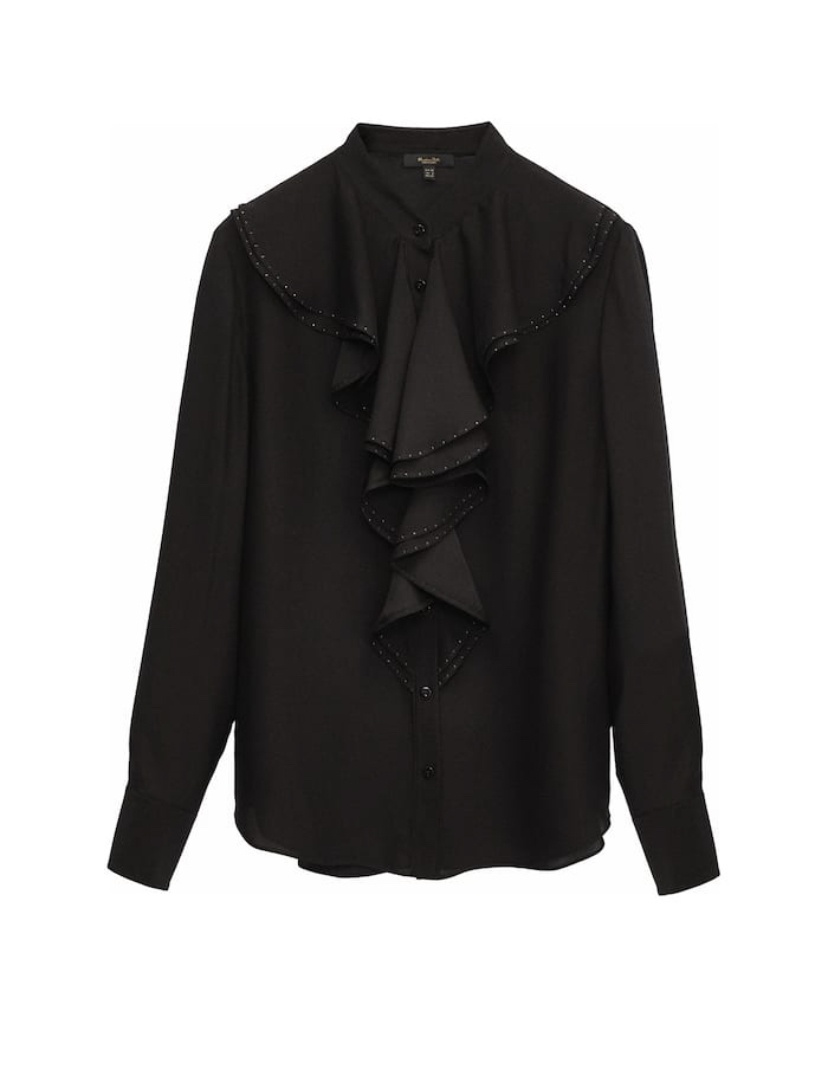 Блузка с воланами Massimo Dutti, р.34 eur.