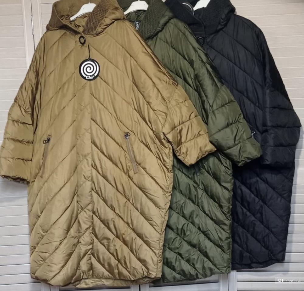 Пальто пуховик plus size, FLY ITALIA,50-60