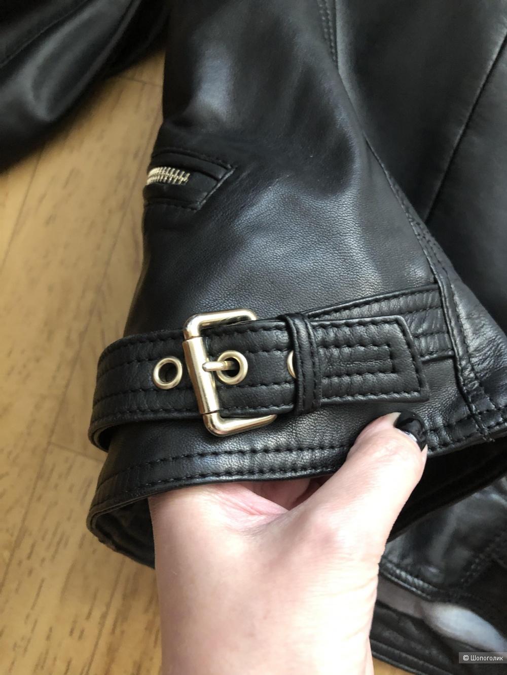 Куртка кожаная Massimo Dutti размер xs