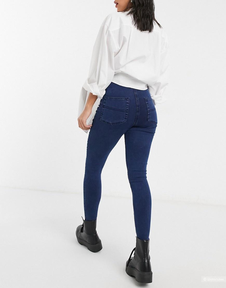 Темно-синие джинсы супер скинни COLLUSION x002, W30 L26