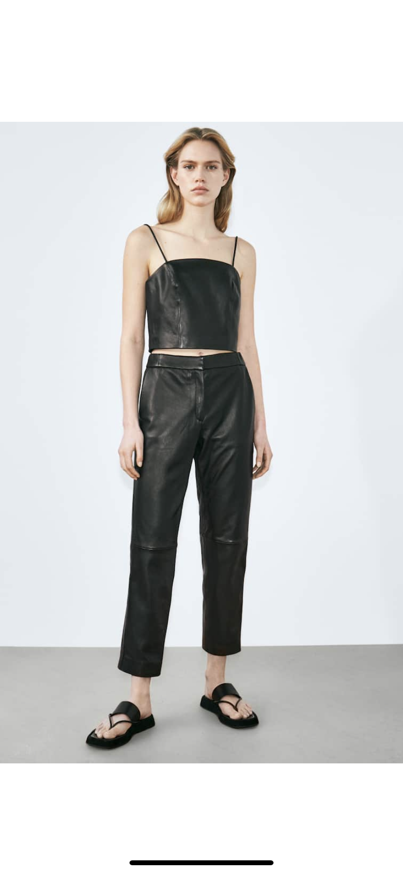 Кожаные брюки джоггеры Massimo Dutti , размер S/M 44