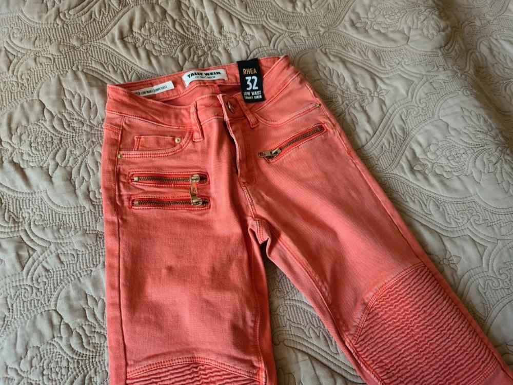 Коралловые джинсы Tally Weijl XS