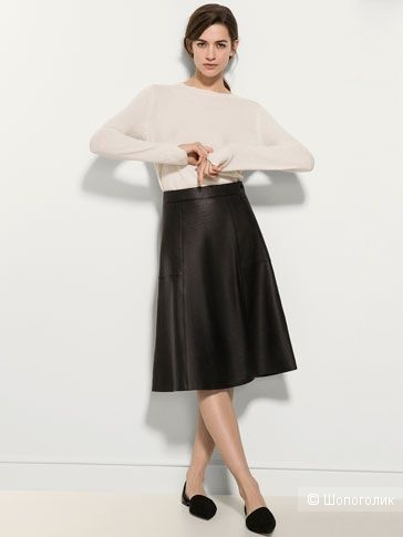 Кожаная юбка Massimo Dutti,  M