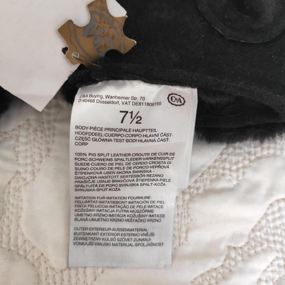 Перчатки замшевые C&A, на 6,5