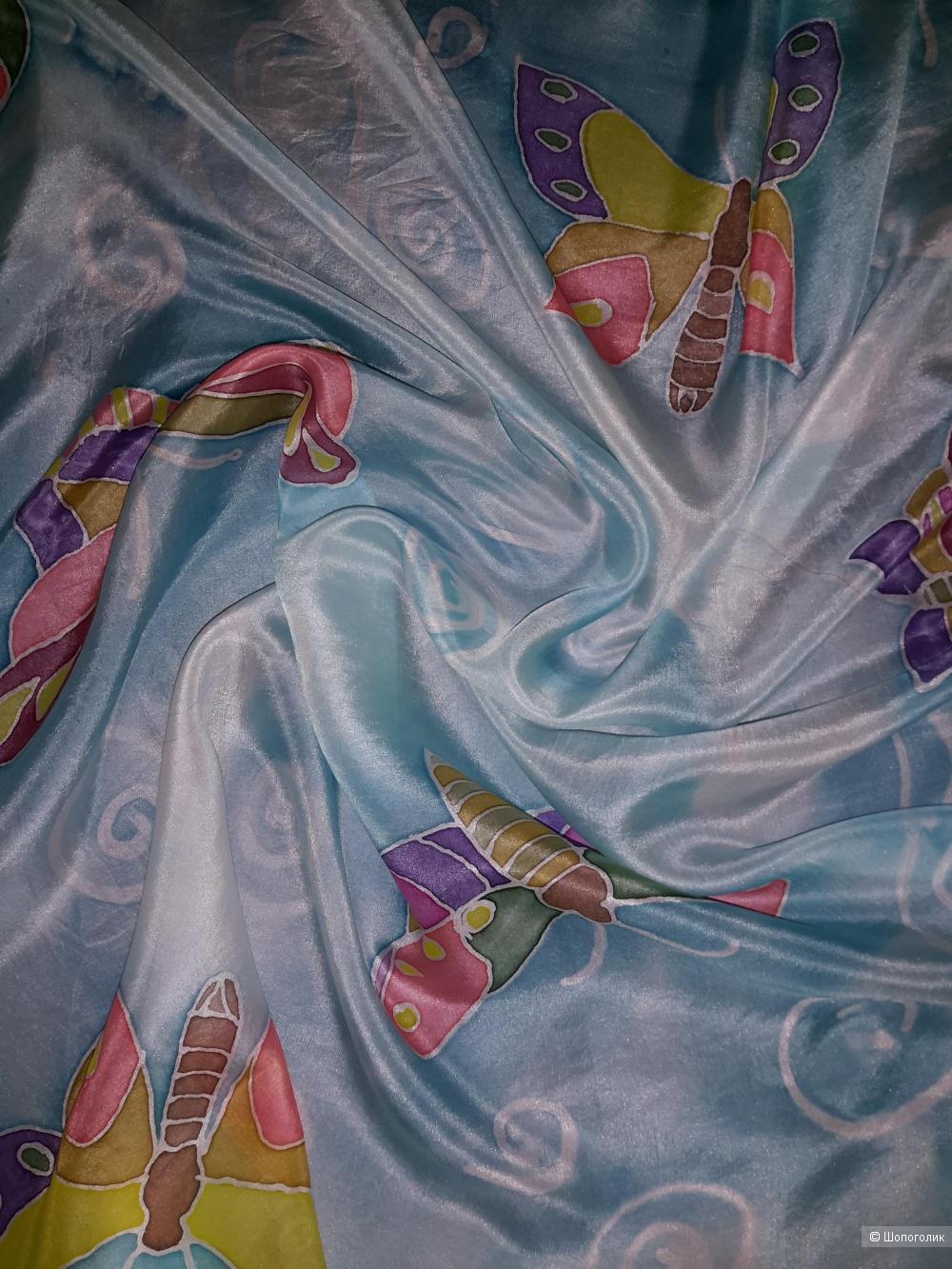 Платок из шёлка no name, размер 90*88 см.