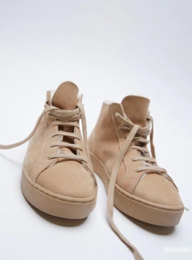 Кожаные ботинки Zara размер 36
