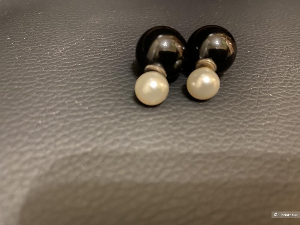 Серьги из серебра в стиле Dior