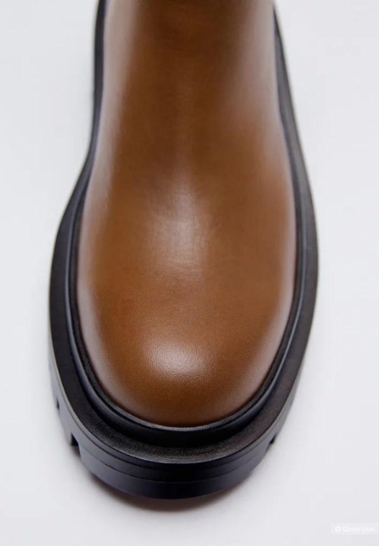 Кожаные ботинки Zara размер 37