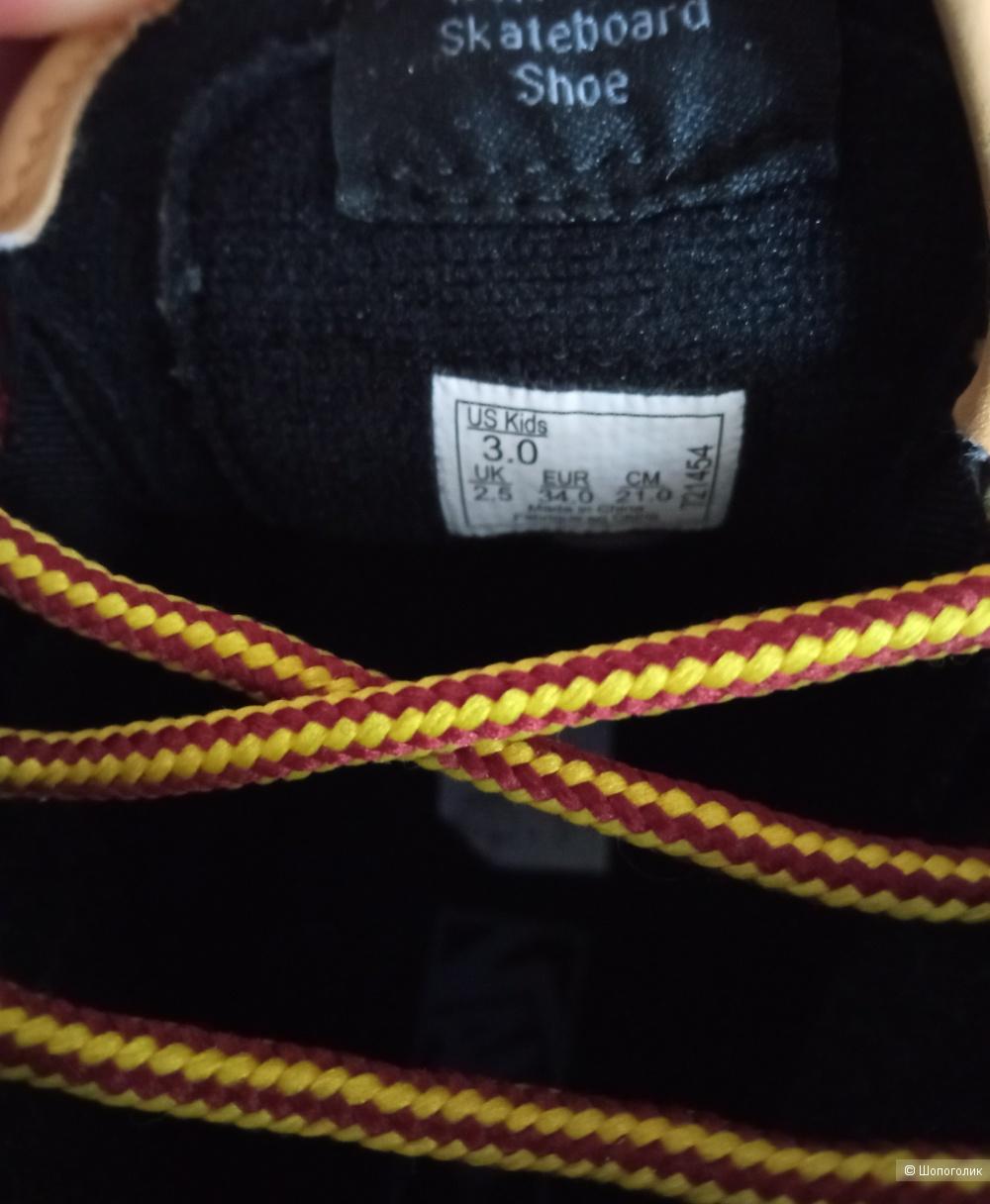 Кожаные кеды Vans размер 34 ( 21см)