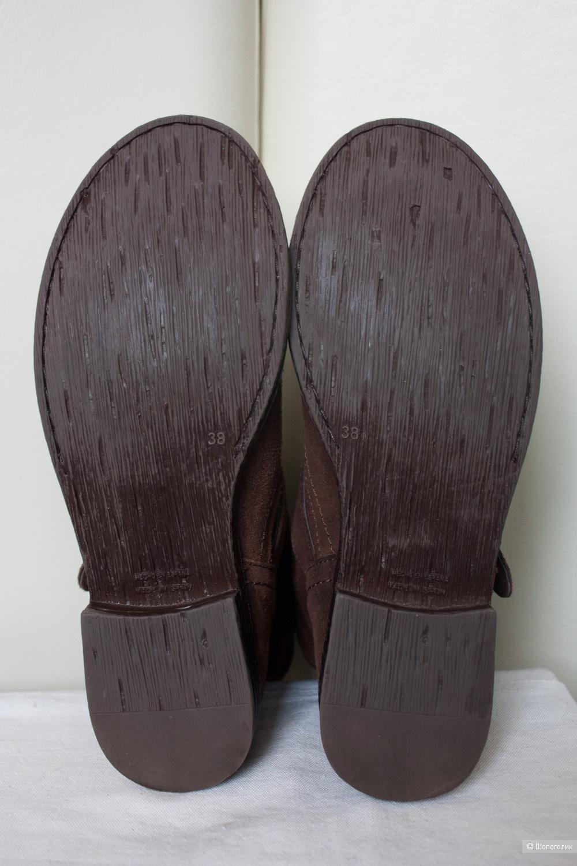 Ботинки полусапоги Испания замшевые, 37-37.5 Ru