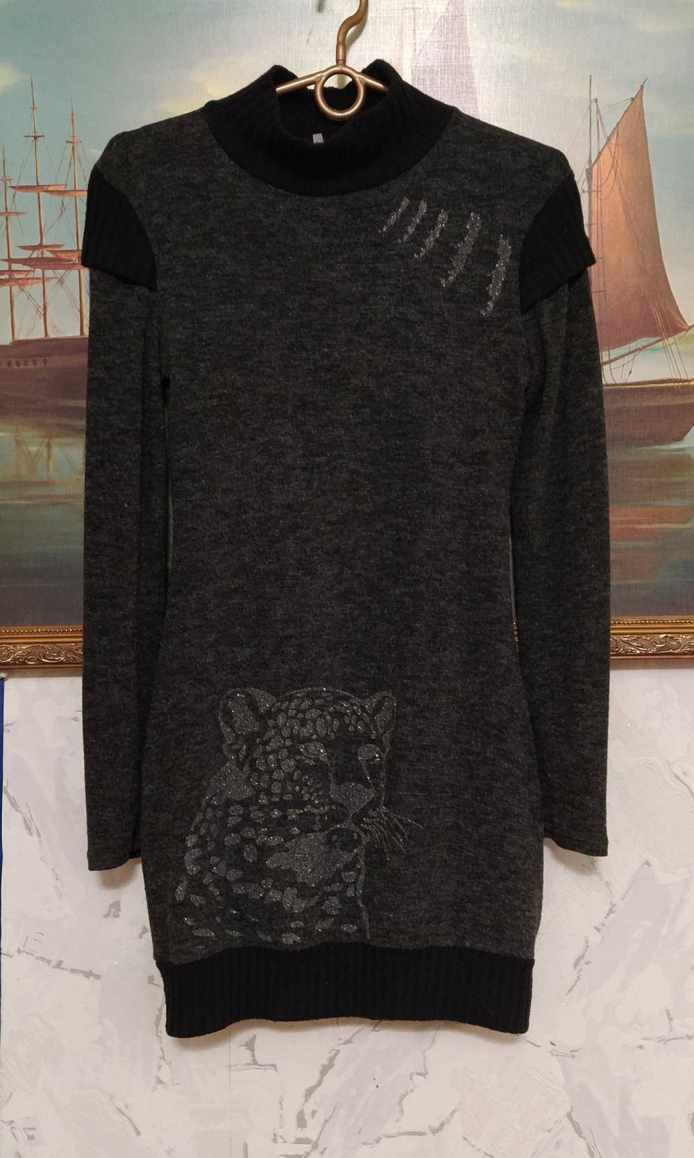 Свитер- платье, no brand, S, M