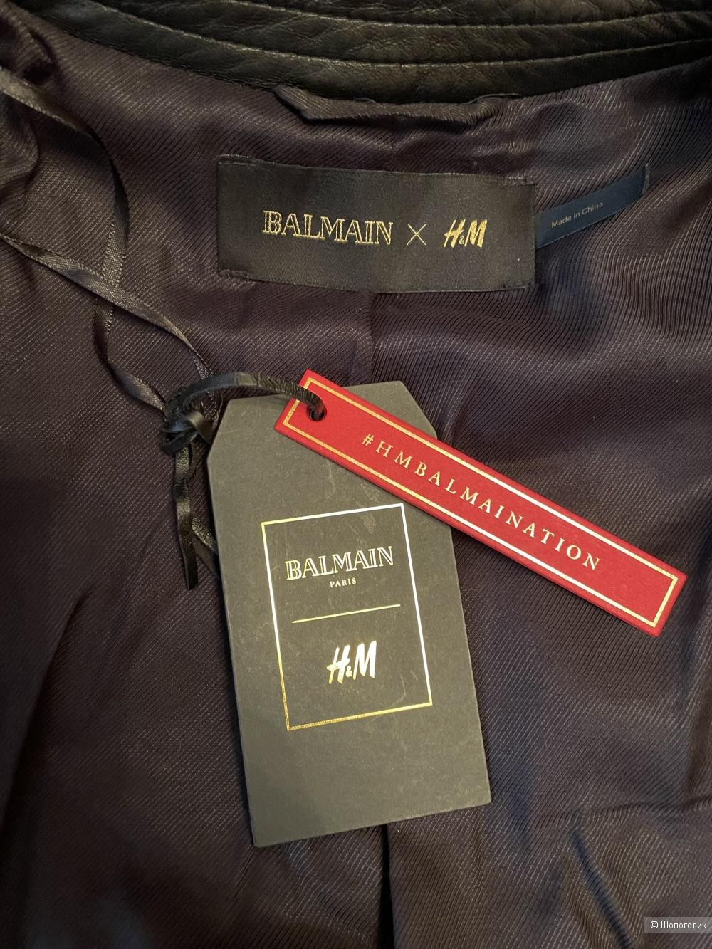 Шуба Balmain x H&M р-р XS-S