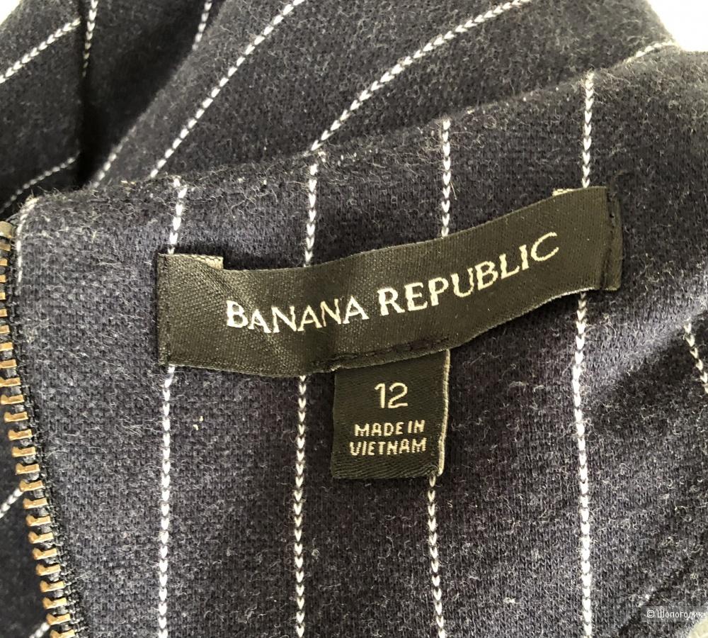 Синее в полоску платье Banana Republic размер 12