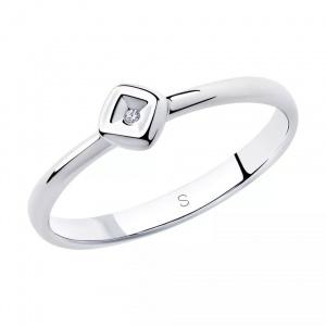 Кольцо  Sokolov с бриллиантом серебро 925, размер 17