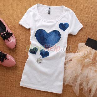 Красивые женские майки и футболки