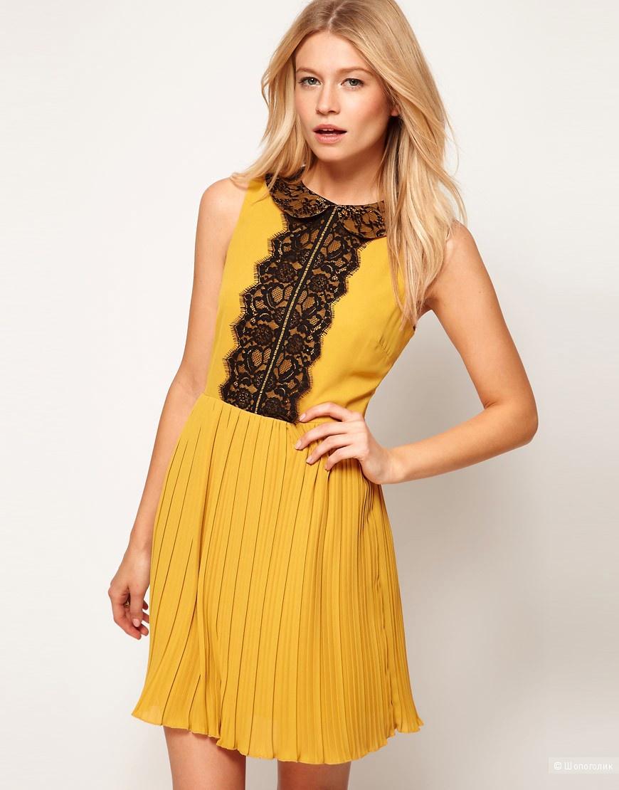великолепное качество, желтое платье с черным кружевом фото знаете