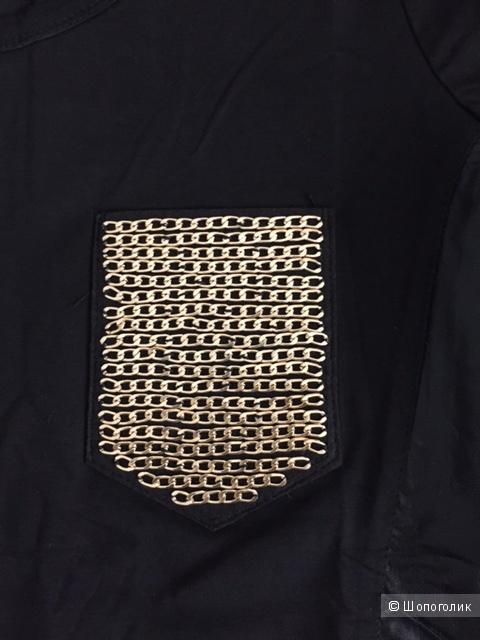 Блузка с кожаными вставками с доставкой